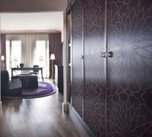 Closets' doors. Hotel Pearl in Marrakech, Marocco